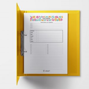 Plan tygodnia do druku A5 (pojedyncza strona) wersja 3 - Selfcreator