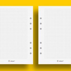 Notatki A5 kratka 5 mm bez ozdobników do druku - Selfcreator