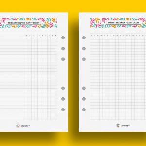 Gantt chart - project planner A5 do druku