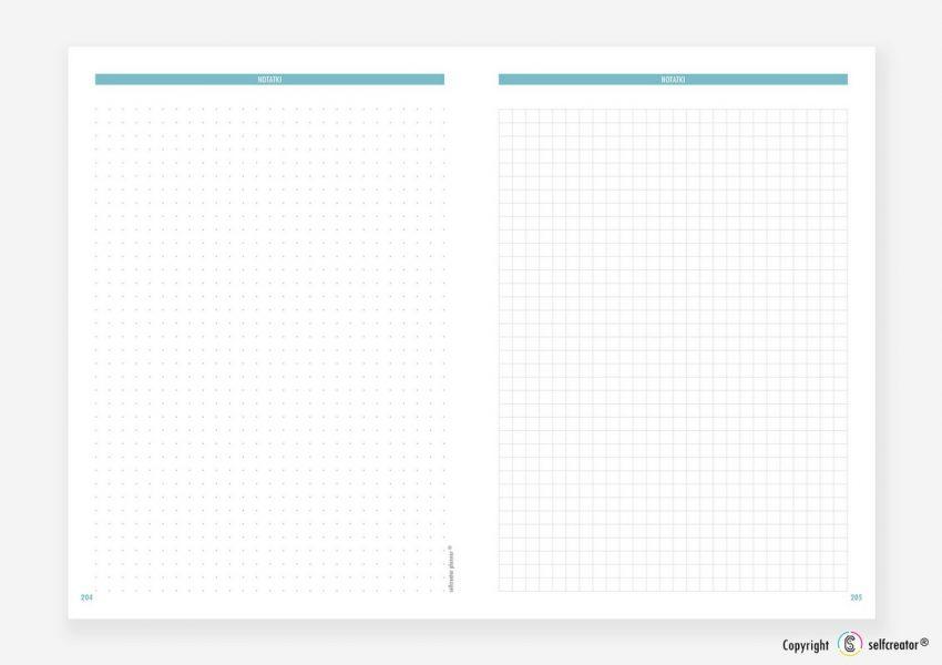 Kalendarz Selfcreator Planner 2021 - Notatki